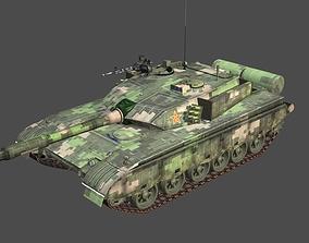3D asset China PLA Army MBT96 Tank Type 96 Main Battle