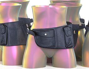 Leather Pocket Tool Belt 14 3D model