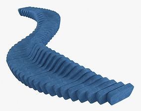 Sixinch Cliffy bench 3D model