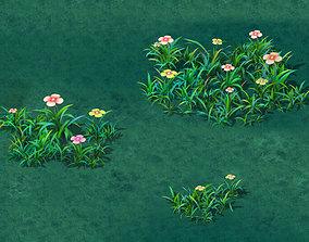 Cartoon version - small wildflower surface 3D