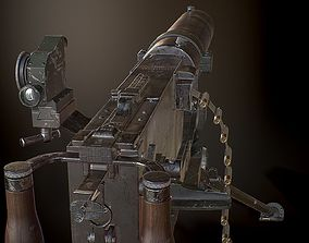 3D asset MG08 Heavy Machine Gun