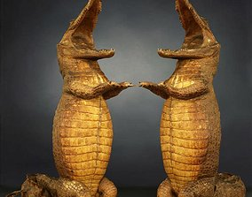 Crocodile Photorealistic Posed 3D asset VR / AR ready