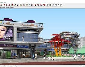 Sketchup shopping mall C8 3D