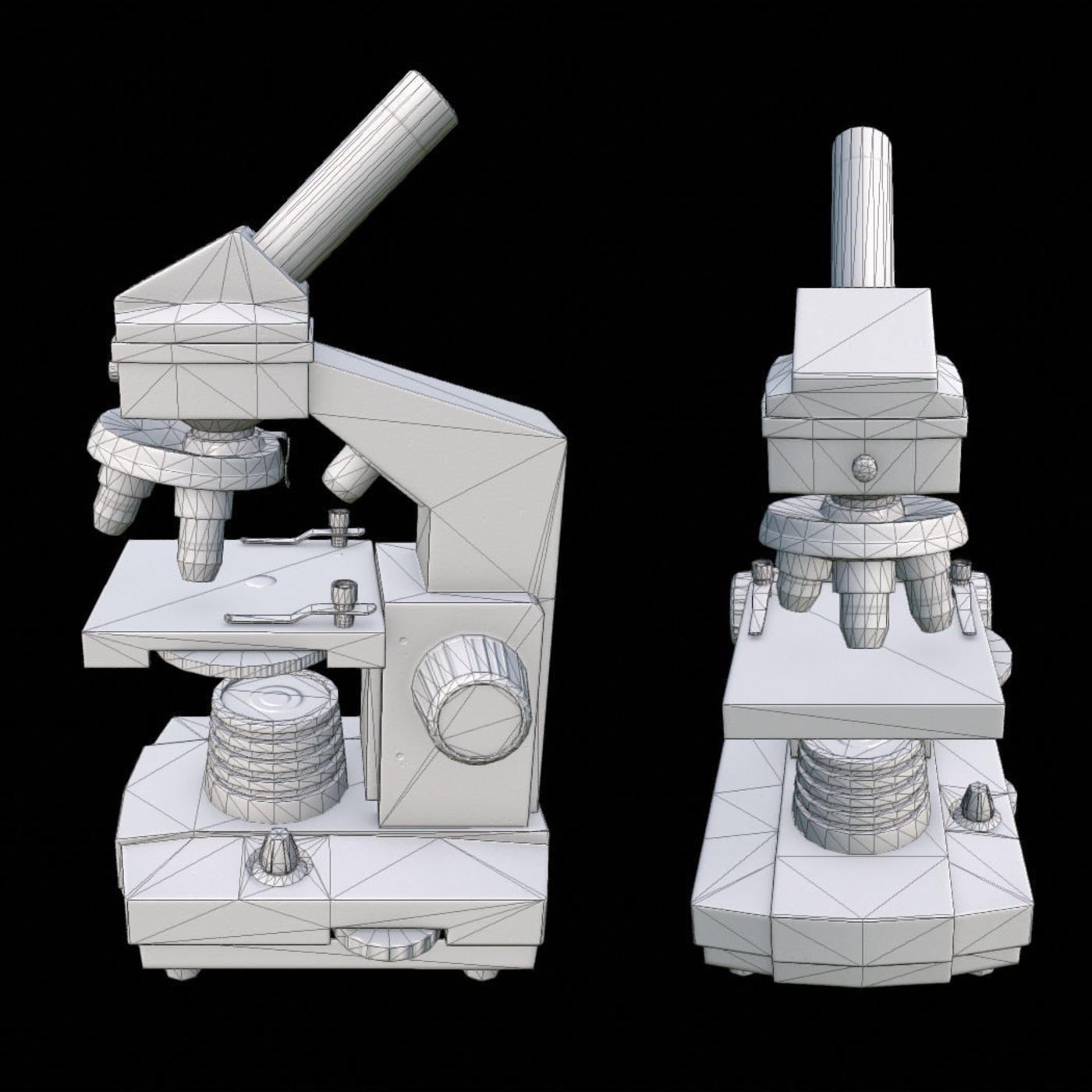 Microscope Low-poly 3D model
