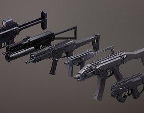 3D model Submachinegun Set 1