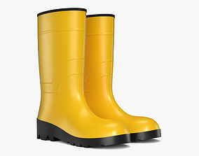 Rubber Boots 3D model game-ready