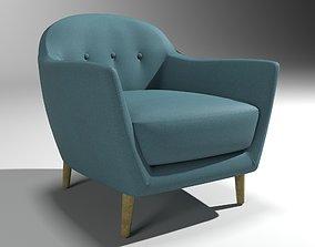 3D model Vintage Blue Armchair