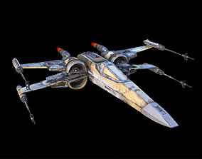 X-wing GOLD color 3D model