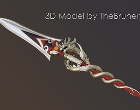 Genshin Impact Dragons Bane Spear 3D print model