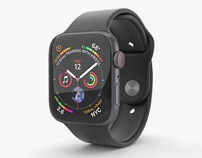 3D model Apple Watch Series 4 44mm Space Gray Aluminum 3