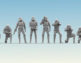 3D model 8 Figure Stormtrooper Printable