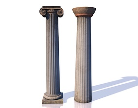 3D model Classic Columns