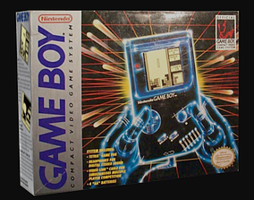 3D asset Gameboy Family Boxes