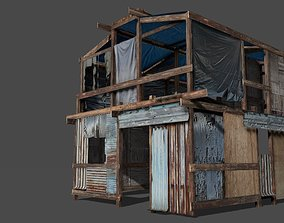 Lowpoly shanty house 3D asset game-ready