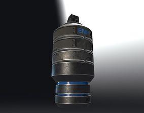 3D asset EMP Grenade