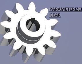3D model PARAMITERIZED SPUR GEAR