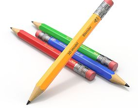 3D Wooden Pencil with Eraser