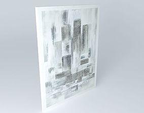Silver tones canvas 3D