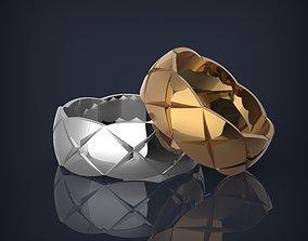 Fashion wedding bands 3d printable rings model