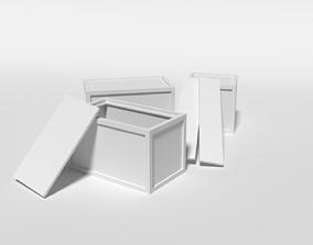 3D asset Low Poly Boxes