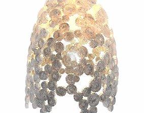 3D ICI ET LA MARINA BELL Handmade cardboard pendant lamp