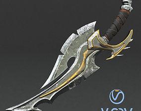 game-ready Fantasy sword 12 3d model