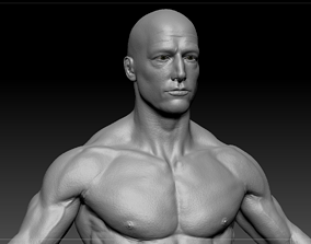 Male body low-poly 3D model realtime