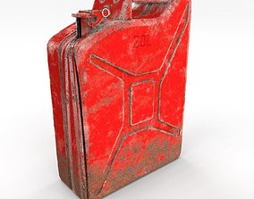 Jerry Can Weathered 2 PBR 3D asset