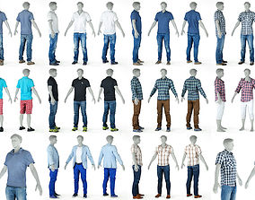 10 Casual Male Outfits V6 3D outfit