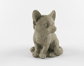 Scanned forest fox 3D asset