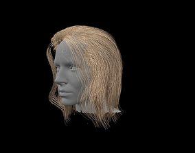 3D model yellow hair