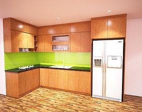 3D model kitchen family building