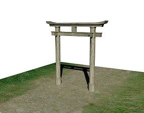 Japanese gate Torii 3D asset