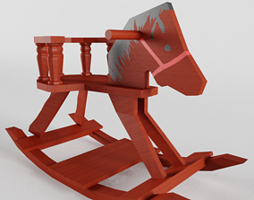 3D model Low-poly Rocking Horse