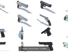 3D model Handgun Pistols Bundle