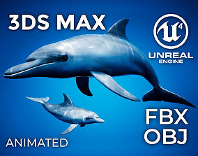 animated Dolphin Animation Pack - UE4 3ds Max