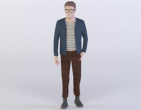 HIPSTER PEOPLE 10 3D MODEL low-poly