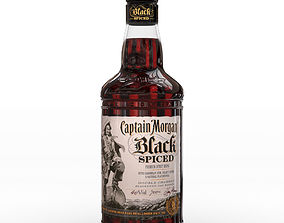 3D Captain Morgan Black Spiced Rum 70cl UK Bottle