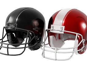 3D asset VR / AR ready American Football Helmet