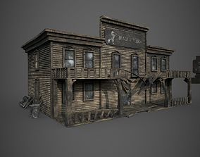 3D model Abandoned wooden building - PBR - lowpoly