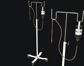 3D asset Medical Drip Stand PBR Game Ready