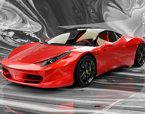 Ferrari 458 Italia High Poly Realistic 3D Model