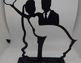 3D print model cake topper wedding