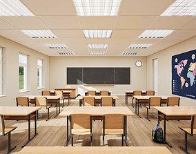 Classroom UE4 3D model
