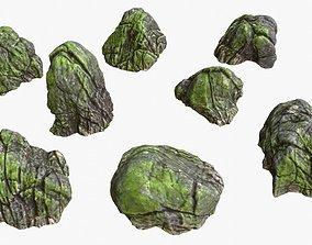 Riverbank Rocks 02 3D model