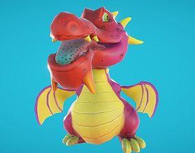 3D model Baby Dragon Animated