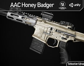 AAC Honey Badger - Game Ready PBR Asset 3D model