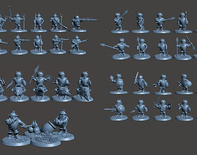 Halfling Army Wargame Set with 37 3D printable model 3