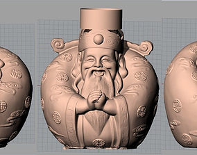 3D China Sculpture Model 3 gods of fortune 2