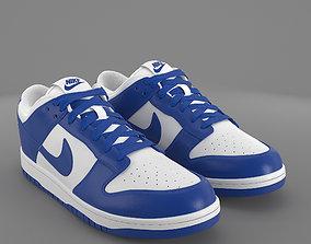 3D asset Nike Dunk Low varsity royal PBR